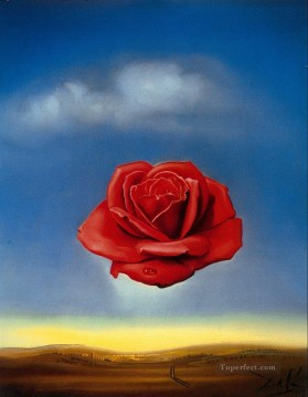 rose roses Painting - The Meditative Rose Surrealism