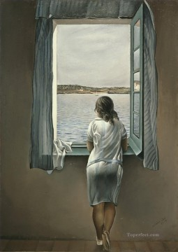 Woman at the Window at Figueres Surrealism Oil Paintings