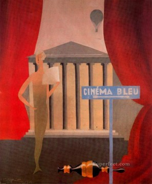 Abstract and Decorative Painting - blue cinema 1925 Surrealism