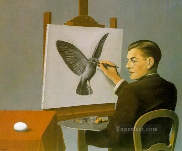 clairvoyance self portrait 1936 Surrealism Oil Paintings