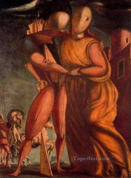 Artworks in 150 Subjects Painting - hector and andromache 1924 Giorgio de Chirico Surrealism