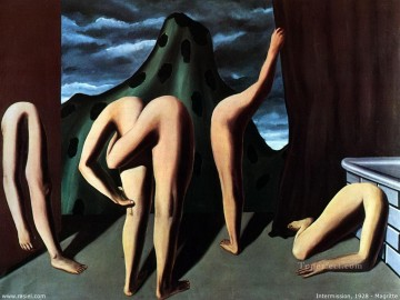 intermission 1928 Surrealism Oil Paintings