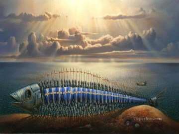 modern contemporary 15 surrealism fish Oil Paintings