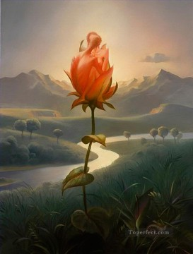 modern contemporary 18 surrealism rose kissing Oil Paintings