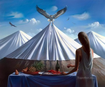 modern contemporary 33 surrealism eagles Oil Paintings