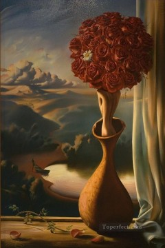 rose awaiting surrealism roses nude Oil Paintings