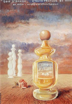 Abstract and Decorative Painting - soir d orage strange perfume by mem Surrealism