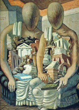 Artworks in 150 Subjects Painting - the archaeologists 1927 Giorgio de Chirico Surrealism