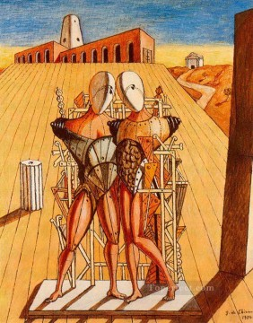 Artworks in 150 Subjects Painting - the dioscuri 1974 Giorgio de Chirico Surrealism