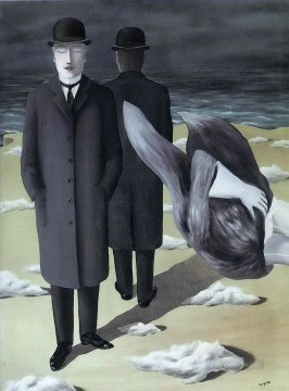 the meaning of night 1927 Surrealism Oil Paintings