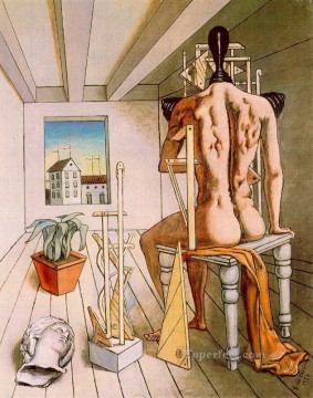 the muse of silence 1973 Giorgio de Chirico Surrealism Oil Paintings