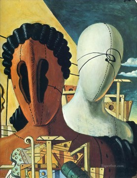 Artworks in 150 Subjects Painting - the two masks 1926 Giorgio de Chirico Surrealism