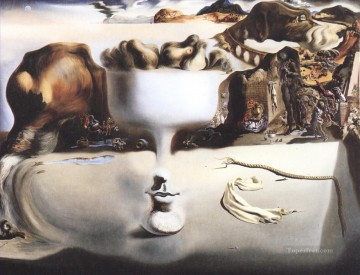 Apparition of Face and Fruit Dish on a Beach Surrealism Oil Paintings