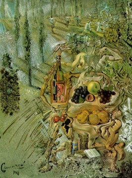 Surrealism Painting - Dionysus Spitting the Complete Image of Cadaques on the Tip of the Tongue of a Three Storied Gaudinian Woman Surrealism