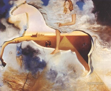 equestrian portrait of maria luisa of parma Painting - Equestrian Portrait of Carmen Bordiu Franco Surrealism