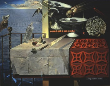 Abstract and Decorative Painting - Living Still Life 1956 Surrealism