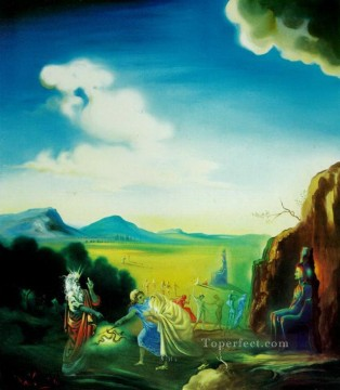 Moses and the Pharaoh Surrealism Oil Paintings