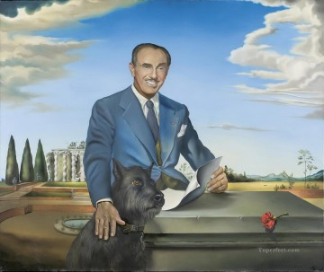 Portrait of Colonel Jack Warner Surrealism Oil Paintings
