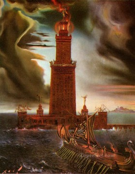The Lighthouse at Alexandria 2 Surrealism Oil Paintings