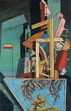 Artworks in 150 Subjects Painting - melancholy of department 1916 Giorgio de Chirico Surrealism