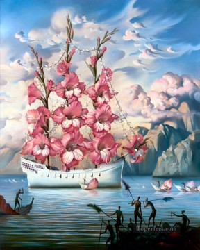 Artworks in 150 Subjects Painting - modern contemporary 08 surrealism ship of flowers