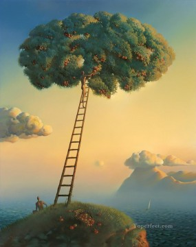 modern contemporary 34 surrealism ladder tree Oil Paintings