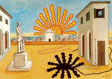 Artworks in 150 Subjects Painting - rising sun on the plaza 1976 Giorgio de Chirico Surrealism