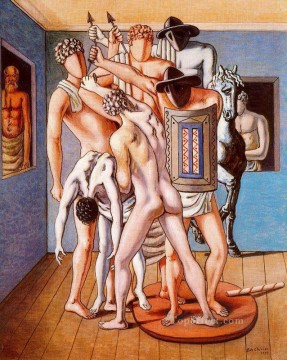 Artworks in 150 Subjects Painting - school of gladiators 1953 Giorgio de Chirico Surrealism
