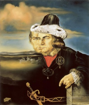 Portrait of Laurence Olivier in the Role of Richard III Surrealism Oil Paintings