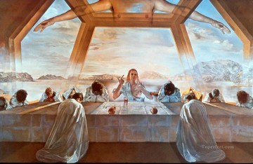 last supper Painting - Sacrament of the Last Supper Surrealism