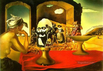 Slave Market with the Disappearing Bust of Voltaire Surrealism Oil Paintings