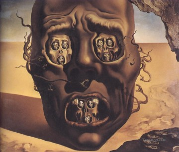 The Face of War Surrealism Oil Paintings