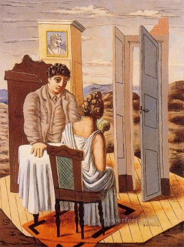 Artworks in 150 Subjects Painting - conversation 1927 Giorgio de Chirico Surrealism