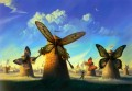 modern contemporary 23 surrealism butterfly windmill