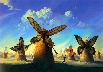 modern contemporary 23 surrealism butterfly windmill Oil Paintings