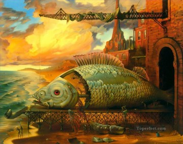modern contemporary 29 surrealism fish Oil Paintings