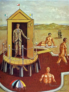the mysterious bath 1938 Giorgio de Chirico Surrealism Oil Paintings