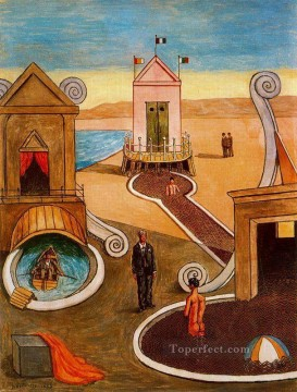 Artworks in 150 Subjects Painting - the mysterious bath Giorgio de Chirico Surrealism