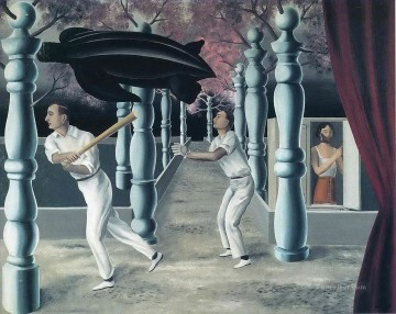 the secret player 1927 Surrealism Oil Paintings