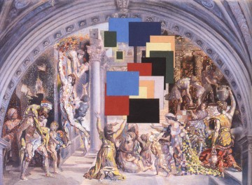 Athens Is Burning! The School of Athens and the Fire in the Borgo Surrealism Oil Paintings