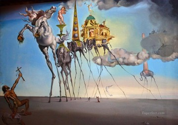 Artworks in 150 Subjects Painting - The Temptation of Saint Anthony Surrealism
