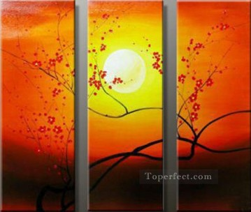 agp019 plum blossom group oil painting panel Oil Paintings