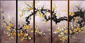 agp029 plum blossom panels group Decor Art