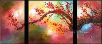 agp062 plum blossom panel group Decor Art