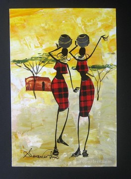 African Painting - Shiundi The Gossipers African