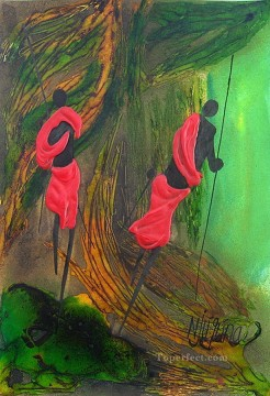 African Painting - And Seek African