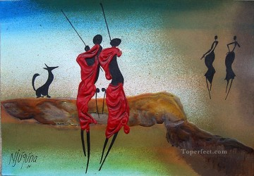 African Oil Painting - Bachelors Anthem African
