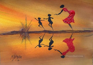 Birthday Drama African Oil Paintings