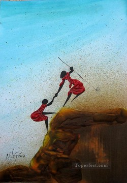 African Painting - Delicate Balance African