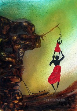 African Oil Painting - Honor Among Thieves African